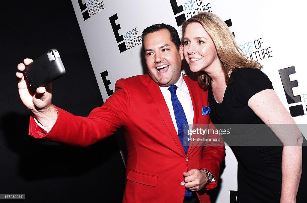 E! Network Events -- 'E! Entertainment 2013 Upfront at The Grand at Manhattan Center Studios' -- Pictured: (l-r) Ross Mathews, Suzanne Kolb, President, E! Entertainment --
