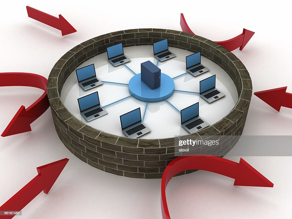 Network Firewall : Stock Photo
