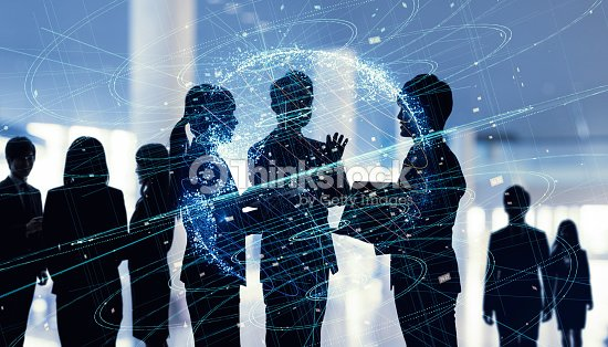 Network of business concept. : Stock Photo