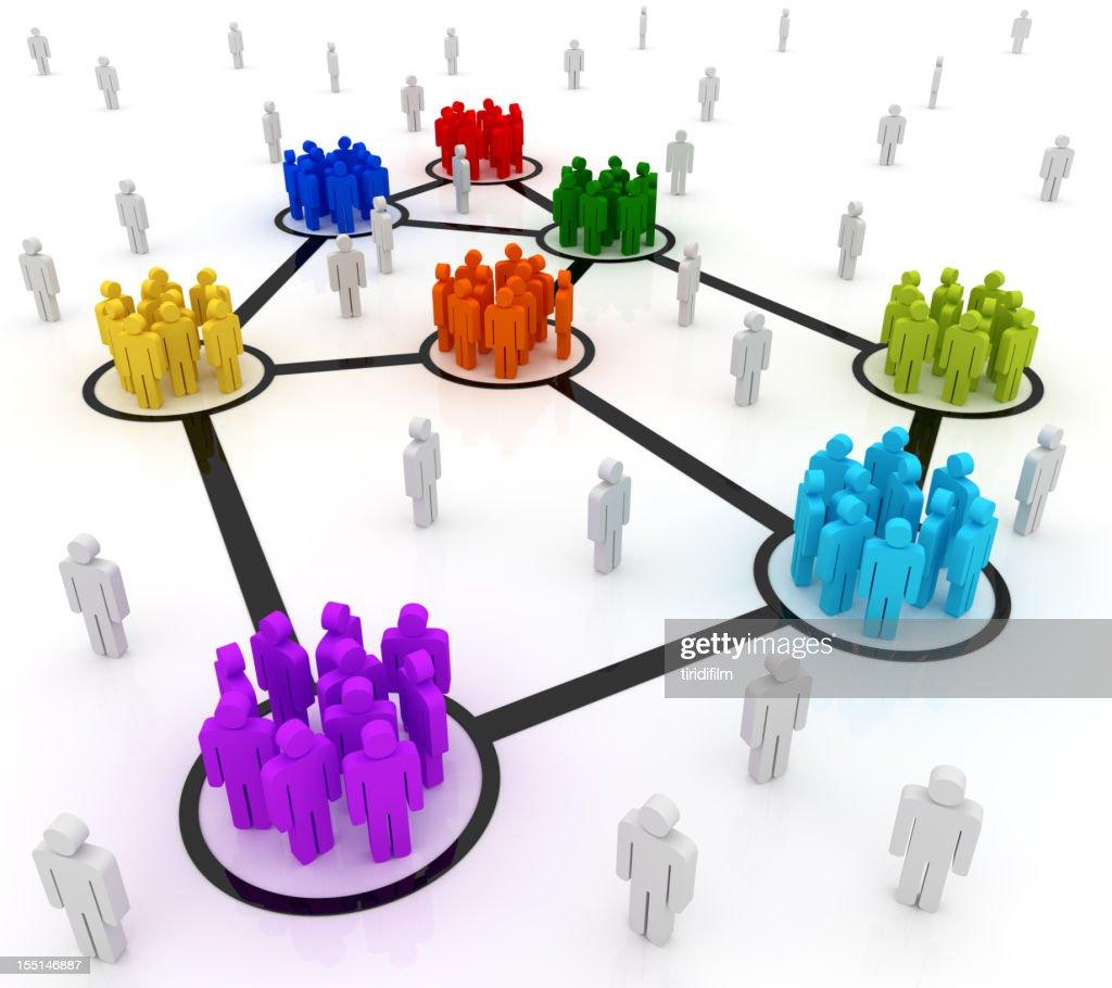 Netzwerk Personen : Stock-Foto
