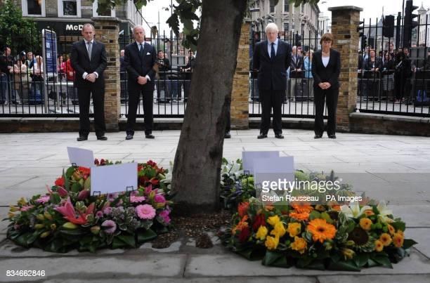 Network Rail Chief Executive Iain Coucher London Underground Managing Director Tim O'Toole London Mayor Boris Johnson and Olympics Minister Tessa...