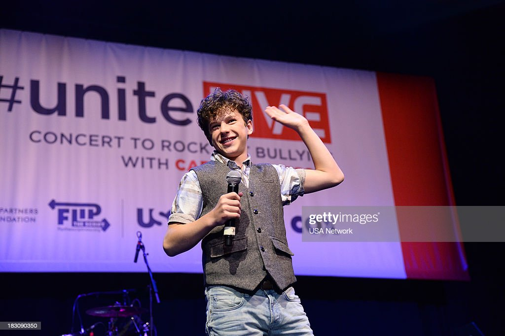 'USA Network, R&R Partners Foundation?s Flip the Script, Cox Communications and MGM Resorts International host #UniteLIVE: The Concert to Rock Out Bullying headlined by recording artist Carly Rae Jepsen' -- Pictured: Nolan Gould form Modern Family --