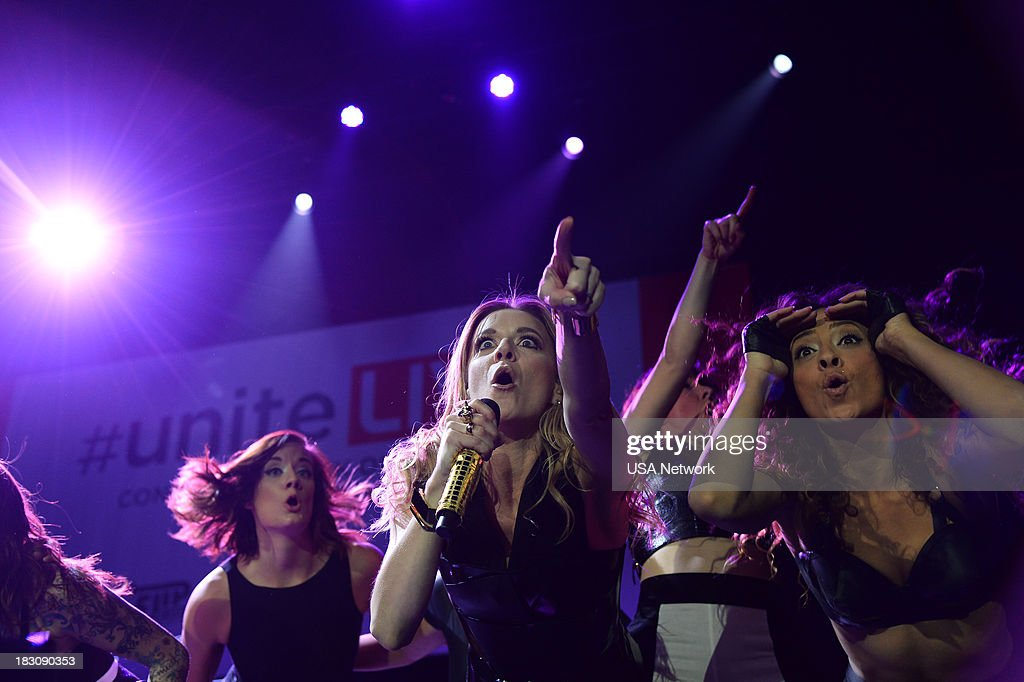 'USA Network, R&R Partners Foundation?s Flip the Script, Cox Communications and MGM Resorts International host #UniteLIVE: The Concert to Rock Out Bullying headlined by recording artist Carly Rae Jepsen' -- Pictured: Veronica DiCaire --