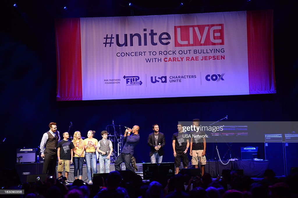 Network, R&R Partners Foundation?s Flip the Script, Cox Communications and MGM Resorts International host #UniteLIVE: The Concert to Rock Out Bullying headlined by recording artist Carly Rae Jepsen' -- Pictured: (l-r) --