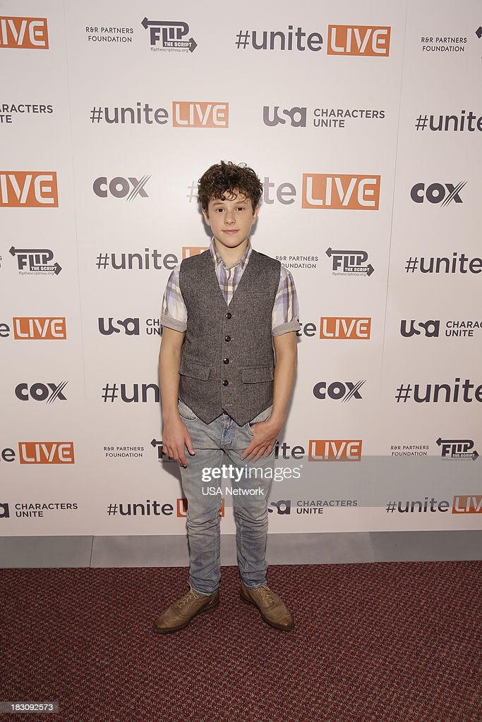 Network, R&R Partners Foundation?s Flip the Script, Cox Communications and MGM Resorts International host #UniteLIVE: The Concert to Rock Out Bullying headlined by recording artist Carly Rae Jepsen' -- Pictured: Nolan Gould from Modern Family --