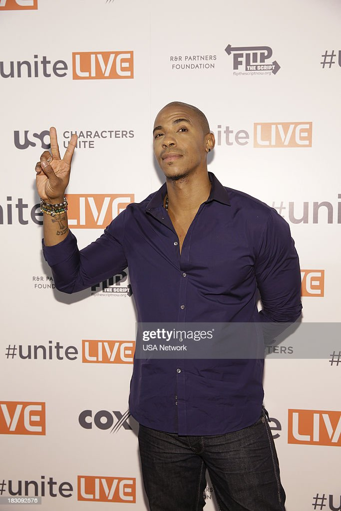 'USA Network, R&R Partners Foundation?s Flip the Script, Cox Communications and MGM Resorts International host #UniteLIVE: The Concert to Rock Out Bullying headlined by recording artist Carly Rae Jepsen' -- Pictured: Mechad Brooks from Necessary Roughness --