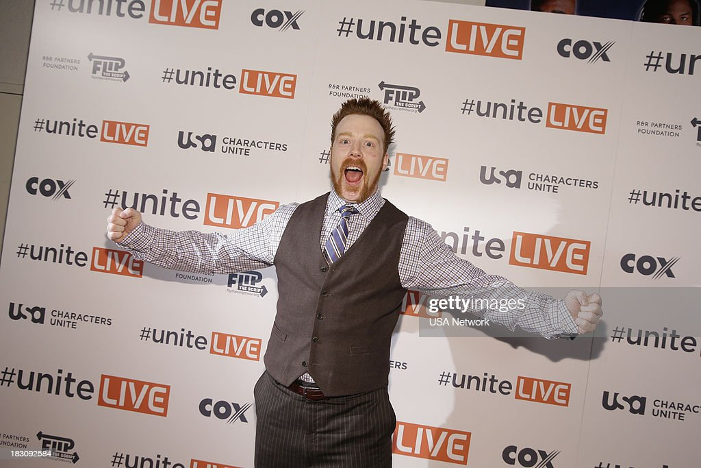 'USA Network, R&R Partners Foundation?s Flip the Script, Cox Communications and MGM Resorts International host #UniteLIVE: The Concert to Rock Out Bullying headlined by recording artist Carly Rae Jepsen' -- Pictured: Sheamus, WWE Wrestler --