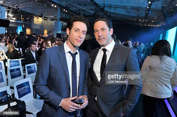 EVENTS '2013 USA Network Upfront at Pier 36 in New York City on Thursday May 16 2013' Pictured Paulo Costanzo Scott Cohen