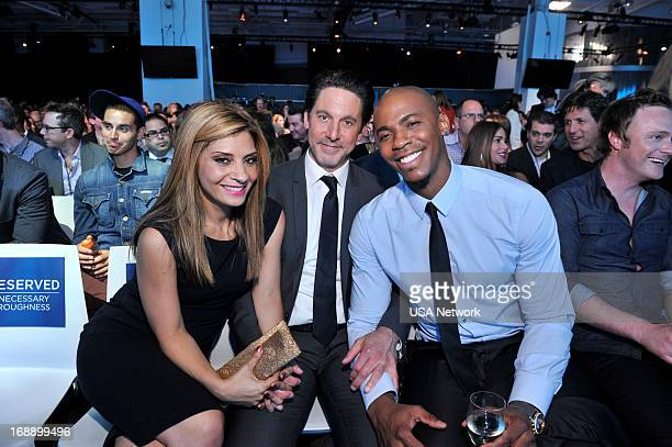EVENTS '2013 USA Network Upfront at Pier 36 in New York City on Thursday May 16 2013' Pictured Callie Thorne Scott Cohen Mechad Brooks