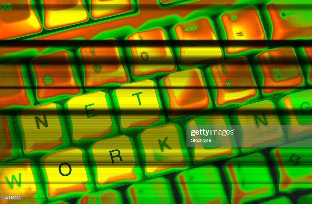 Networking Keyboard : Stock Photo