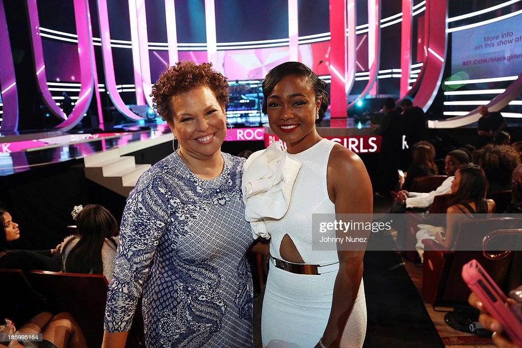 BET Networks Chairman and CEO, Debra Lee, and actress <a gi-track='captionPersonalityLinkClicked' href=/galleries/search?phrase=Tatyana+Ali&family=editorial&specificpeople=847071 ng-click='$event.stopPropagation()'>Tatyana Ali</a> attend Black Girls Rock! 2013 at New Jersey Performing Arts Center on October 26, 2013 in Newark, New Jersey.