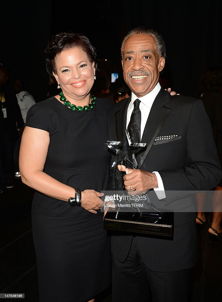 Networks Chairman & CEO <a gi-track='captionPersonalityLinkClicked' href=/galleries/search?phrase=Debra+L.+Lee&family=editorial&specificpeople=555541 ng-click='$event.stopPropagation()'>Debra L. Lee</a> and honoree <a gi-track='captionPersonalityLinkClicked' href=/galleries/search?phrase=Al+Sharpton&family=editorial&specificpeople=202250 ng-click='$event.stopPropagation()'>Al Sharpton</a> attend the 2012 BET Awards at The Shrine Auditorium on July 1, 2012 in Los Angeles, California.