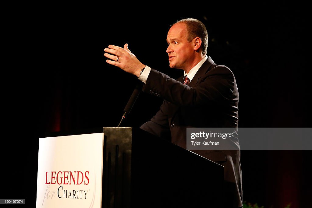 NFL Networks TV personality <a gi-track='captionPersonalityLinkClicked' href=/galleries/search?phrase=Rich+Eisen&family=editorial&specificpeople=625704 ng-click='$event.stopPropagation()'>Rich Eisen</a> attends the 2013 Legends For Charity Dinner Honoring Archie Manning at the Hyatt Regency New Orleans on January 31, 2013 in New Orleans, Louisiana.