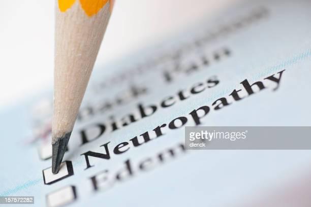 neuropathy - medical check off list