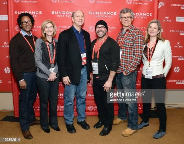 Neuroscientist Andre Fenton producer Paula Apsell Alfred P Sloan Foundation's Doron Weber filmmaker Scott Z Burns director Jon Amiel and physicist...