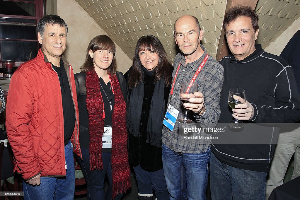 Neuroscientist Daniel Levitin, composer Heather McIntosh, BMI Executive Doreen Ringer-Ross, director Robert Stone and composer Gary Lionelli attend the BMI Sundance Dinner at Zoom Restaurant on January 22, 2013 in Park City, Utah.