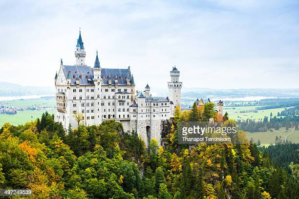 CONTENT] Neuschwanstein castle 19th Century Romanesque revival palace of Ludwig II of Bavaria in the Bavarian Alps Fussen Germany