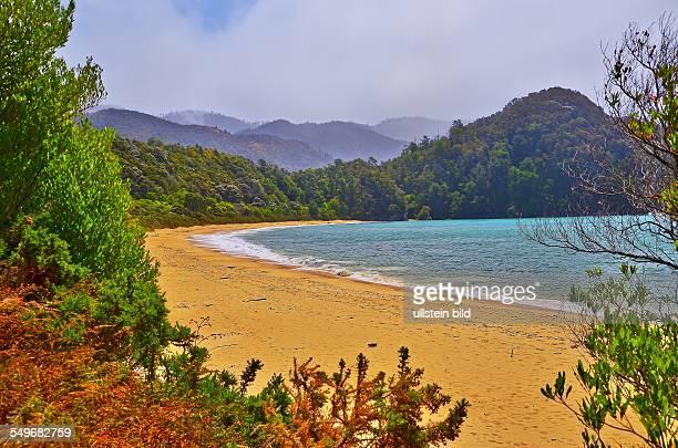 Neuseeland der Abel Tasman Nationalpark ist der kleinste Nationalpark Neuseelands Strand in der Tasman Bay