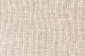 Neutral beige Linen Fabric Background with clear Canvas Texture Close Up