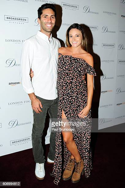 Nev Schulman and Laura Perlongo attends the London Fog Presents a New York Special Screening of 'The Dressmaker' at Florence Gould Hall on September...