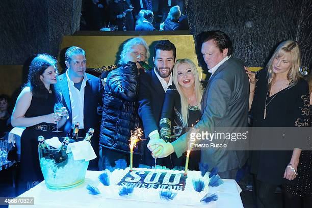 Neva Leoni Stephen Baldwin Rutger Hauer Andrea Iervolino Monika Bracardi Michael Madsen and Daryl Hannah attend the 'Sights Of Death' Pre Berlinale...