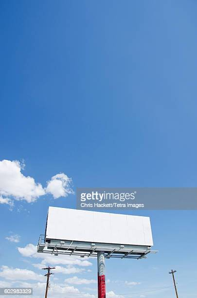 USA, Nevada, Blank billboard against blue sky