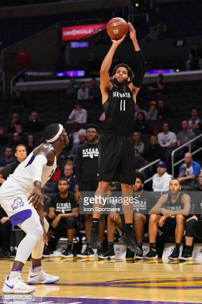 Nevada forward Cody Martin shoots a three pointer during an college basketball game between the TCU Horned Frogs and the Nevada Wolf Pack in the...