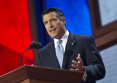 Nevada Gov Brian Sandoval speaks at the 2012 Republican National Convention at the Tampa Bay Times Forum