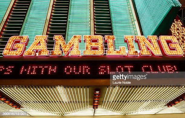 USA, Nevada, Las Vegas, neon casino sign