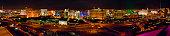 USA, Nevada, Las Vegas, skyline, elevated view, night