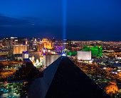 USA, Nevada, Las Vegas, View of city at night
