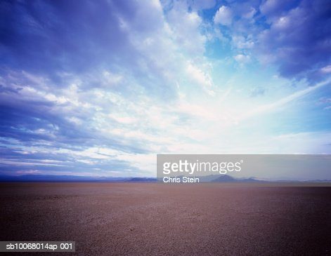 USA, Nevada, Mojave Desert, dramatic sky : Stock Photo