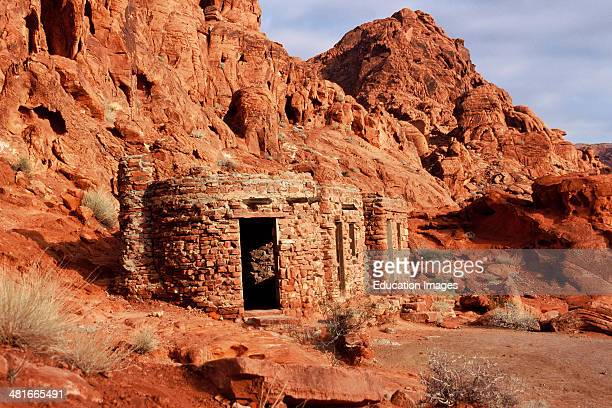 Nevada Overton Valley of Fire State Park wind and water sculpted desert sandstones