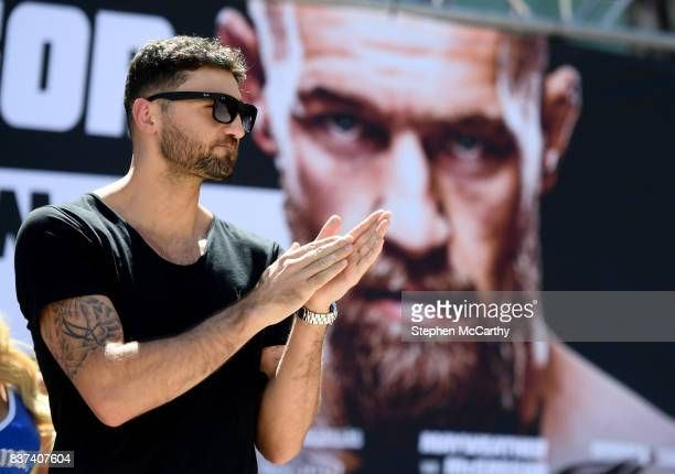 Nevada United States 22 August 2017 Nathan Cleverly during the Grand Arrival at Toshiba Plaza in Las Vegas USA ahead of his WBA Light Heavyweight...
