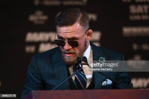 Nevada United States 23 August 2017 Conor McGregor during a news conference at the MGM Grand in Las Vegas USA ahead of his super welterweight boxing...