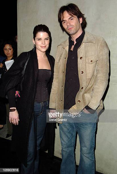 Neve Campbell and Billy Burke during 2004 Fox Broadcasting Network Prime Time Lineup Party Arrivals at Dolce Restaurant in Los Angeles California...