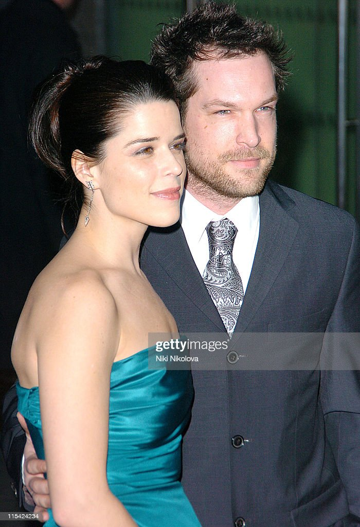 Neve Campbell and John Ligh during 2006 Laurence Olivier Awards - Arrivals at London Hilton in London, United Kingdom.