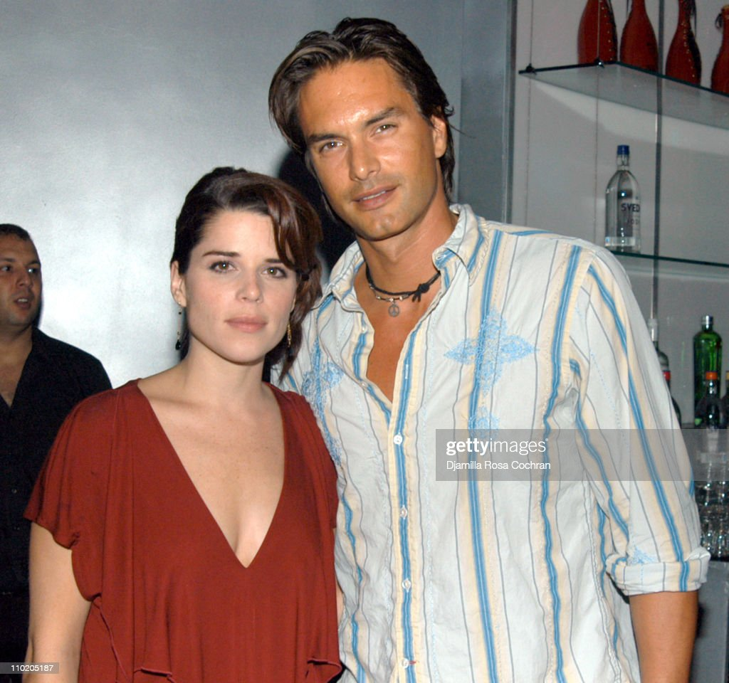 Neve Campbell and Marcus Schenkenberg during 'When Will I Be Loved' New York Premiere After Party at Ruby Falls in New York City New York United...