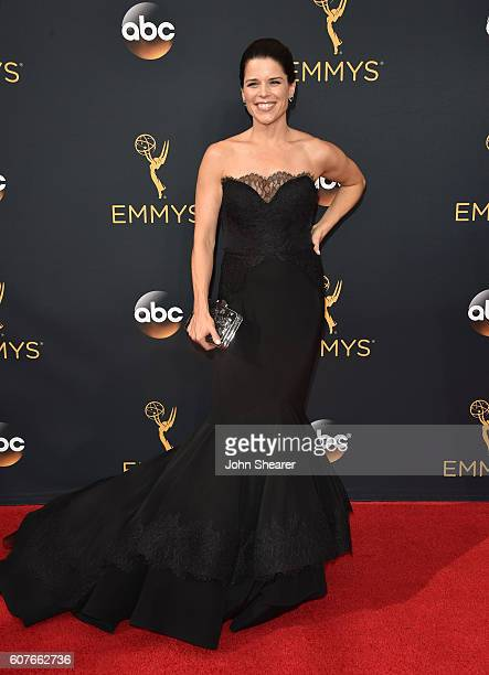 Neve Campbell arrives at the 68th Annual Primetime Emmy Awards at Microsoft Theater on September 18 2016 in Los Angeles California