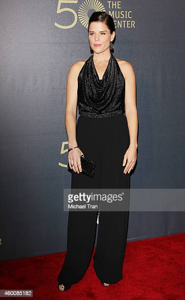 Neve Campbell arrives at The Music Center's 50th Anniversary Spectacular held at Dorothy Chandler Pavilion on December 6 2014 in Los Angeles...