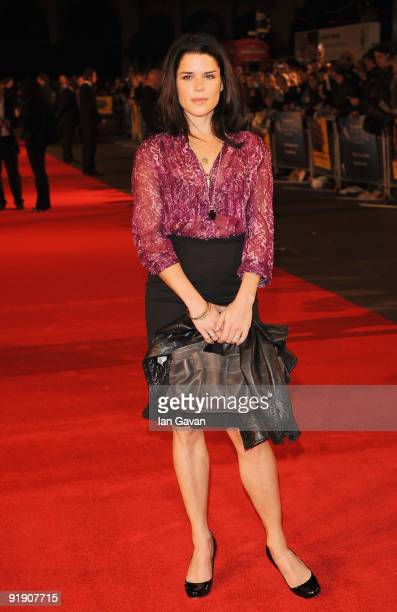 Neve Campbell arrives for the premiere of 'The Men Who Stare At Goats' during the Times BFI 53rd London Film Festival at the Odeon Leicester Square...
