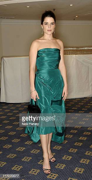 Neve Campbell during 2006 Laurence Olivier Awards Drinks Reception at London Hilton in London Great Britain