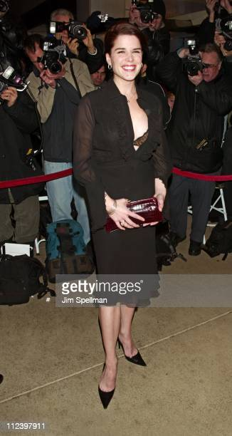 Neve Campbell during 'The Company' New York Premiere Outside Arrivals at The Paris Theater in New York City New York United States