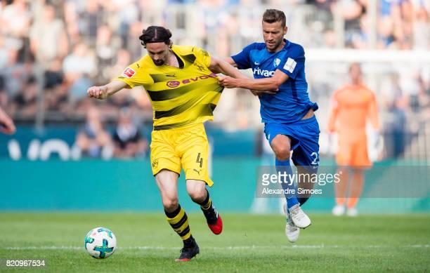 Neven Subotic of Borussia Dortmund and Tom Weilandt during the preseason friendly match between VfL Bochum and Borussia Dortmund at Rewirpower...