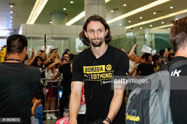 Neven Subotic of Borussia Dortmund arrives at Guangzhou Baiyun International Airport on July 17 2017 in Guangzhou China