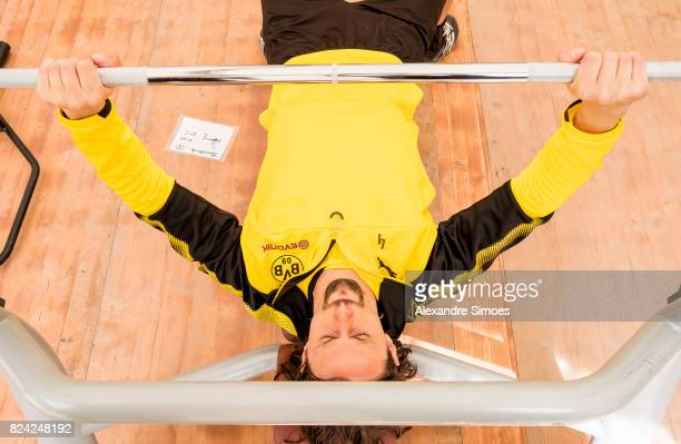 Neven Subotic of Borussia Dortmund in action during a training session as part of the training camp on July 29 2017 in Bad Ragaz Switzerland