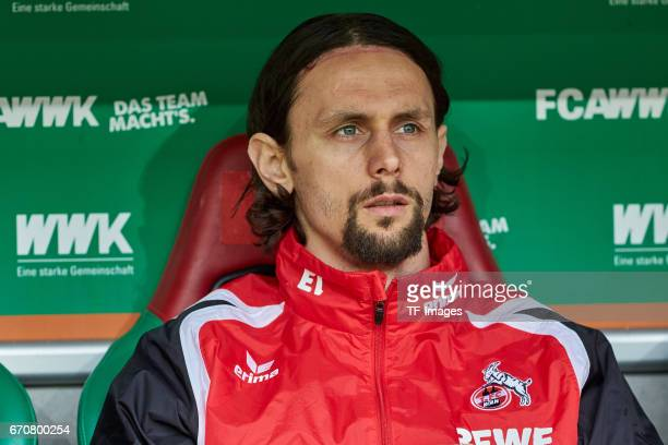 Neven Subotic of Colonge looks on during the Bundesliga match between FC Augsburg and 1 FC Koeln at WWK Arena on April 15 2017 in Augsburg Germany