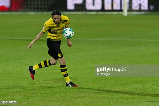Neven Subotic of Dortmund controls the ball during a friendly match between Borussia Dortmund and Atalanta Bergamo as part of the training camp on...