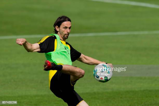 Neven Subotic of Dortmund controls the ball during a training session as part of the training camp on July 27 2017 in Bad Ragaz Switzerland