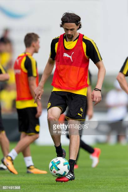 Neven Subotic of Dortmund controls the ball during a training session as part of the training camp on July 31 2017 in Bad Ragaz Switzerland